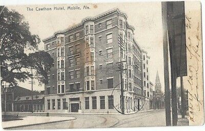 Mobile, Al: 1908: View Of The Cawthon Hotel