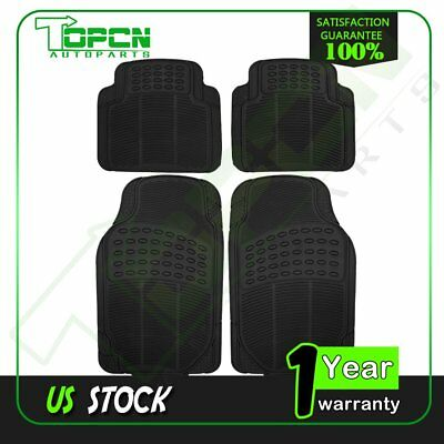 4 PC For CHEVY SILVERADO 1500 2500 3500 FLOOR MATS BLACK RUBBER ELITE STYLE