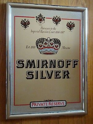 Smirnoff Silver - Private Reserve Bar Mirror