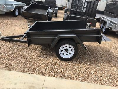 7X4 Single Axle Box Trailer | 750kg Gvm | Full SMOOTH | New | AUSSIE MADE