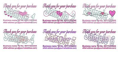 Thank You Cards with your Business details Hearts 50 Printing