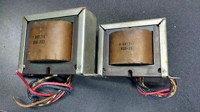 1962 Woodward Schumacher Output Transformers Pair/ Lowery P-6417-1/ HiFi Audio