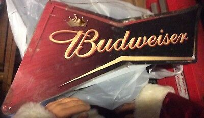 BUDWEISER Tin Beer Sign None On eBay That I've Seen.