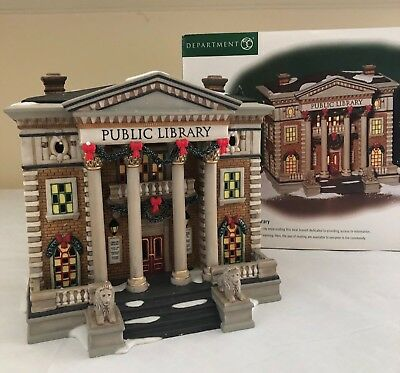 Dept. 56 Christmas in the City, Hudson Public Library
