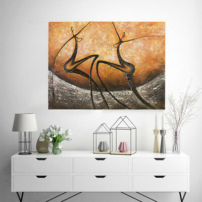 Modern Abstract Hand Painted Art Canvas Oil Painting Home Decor Framed - Dancer