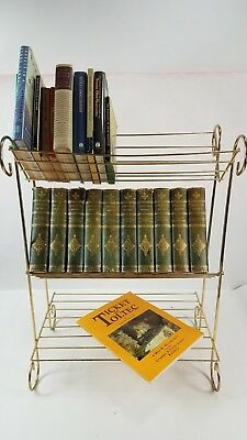 Vintage Mid Century MODERN Atomic METAL Wire Book Shelf 3 TIER Wine Rack Stand