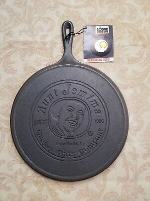 LODGE Aunt Jemima Cast Iron Griddle #8 Size  Discontinued 1996