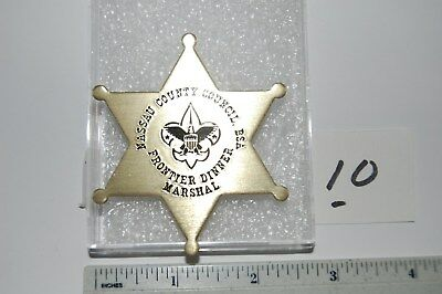 Vintage Boy Scout Nassau County Council Dinner Marshal Metal Badge #10