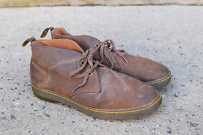 Dr. Martens Cabrillo Men's Size 10 Brown Leather 2-Eye Lace Up Chukka Boots