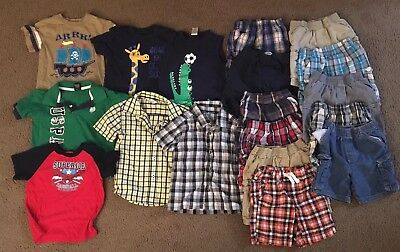 Boys Size 3T Spring/Summer Clothing Lot of 18 Pieces
