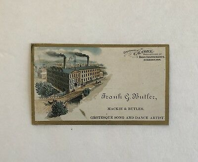 1880 Trade Card: C.G. Conn Band Music Instrument Factory Elkhart Indiana