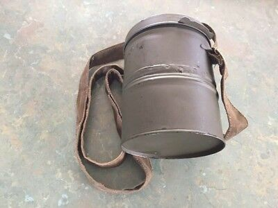 Reproduction Imperial German gummi mask carrying can and straps