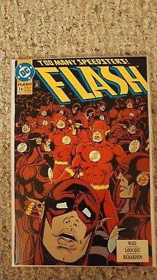 Flash #74. NM. 9.4. Wally West as the Flash.