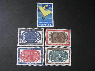 Luxembourg Stamps Scott # 299 & 306-309 Never Hinged Catalog Value $ 25.00+