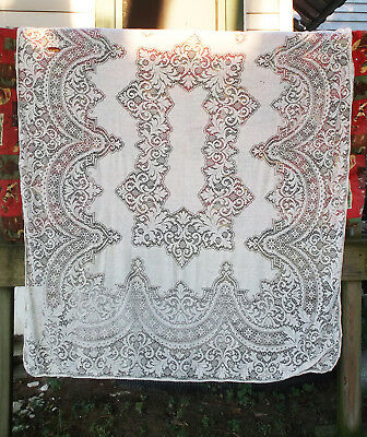 """Vintage Victorian Lace Cloth for Large Banquet Table Service 66"""" x 88"""""""