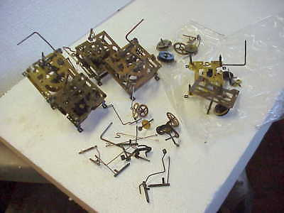 Vintage Used Cuckoo Clock Incomplete Movement &Parts parts repair or Steampunk O