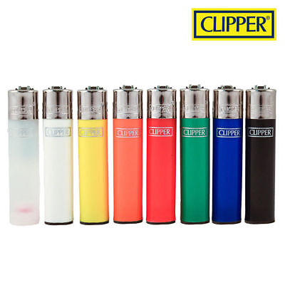 (8) Clipper Lighters - Solid/Original Colors - Full Size - Refillable