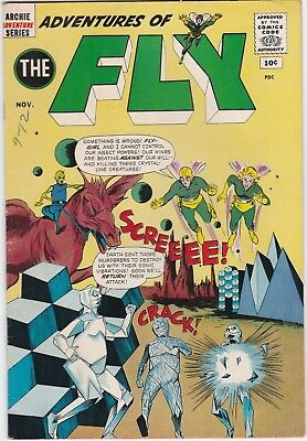 Adventures of The Fly #16 1961 Silver Age Archie Adventure Series Comic Nice!
