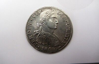 1809 MEXICO Mo TH 8R UNCERTIFIED UNGRADED Mexican Silver 8 Reales NICE COIN