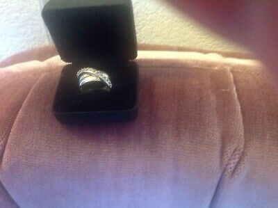 Michael Dawkins STERLING SILVER 10.1 Grams Cross Over BAND ring 925 Size 8