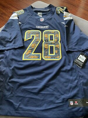 93f92384 New Nike On Field NFL Los Angeles Chargers Melvin Gordon Jersey 2XL Men