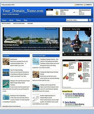 BOATS SHOP and BLOG WEBSITE BUSINESS FOR SALE! TARGETED SEO CONTENT INCLUDED