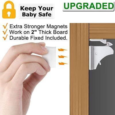 Baby Proofing Magnetic Cabinet Locks Child Safety - Vmaisi 4-Pack Children Proo