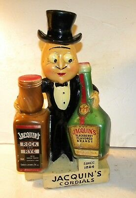 RARE Jacquin's Cordials Chalk Bar Advertising Figure Gaston With Damage As Is
