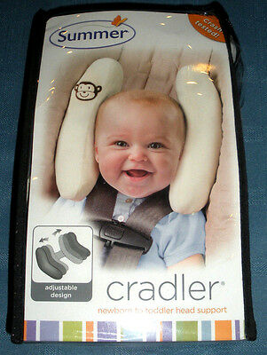 NEW!! Summer Infant Toddler Head Support Cradler w/ Monkey - Ivory