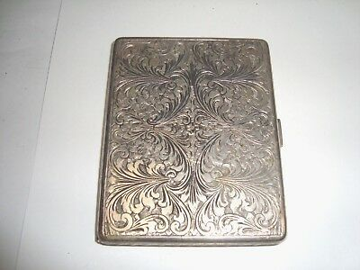 vintage cigarette case 800 sterling silver very ornate