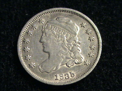1835 Capped Bust Silver Half Dime, small date, full date, full liberty  ZW08  Z7