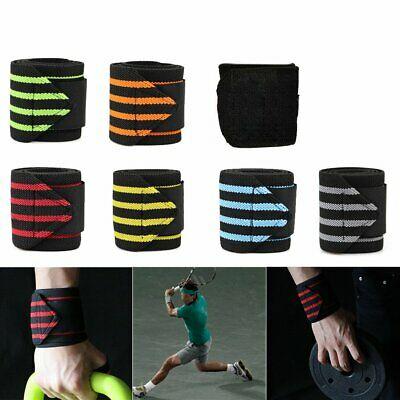 Wrist Wraps Straps Weightlifting Gym Training Wrist Support Straps Elastic AY