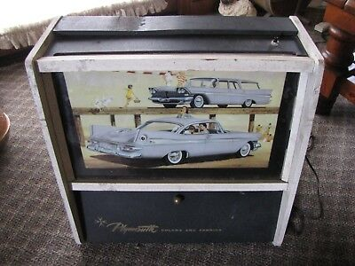 1959 Plymouth Dealer Display Box Paint Colors Upholstery Fabric Forward Look