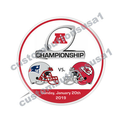 AFC Championship Button - New England Patriots vs Kansas City Chiefs - NFL 2018