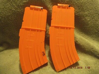 lot of 2 NERF 10 Round banana Clip Curved Magazine