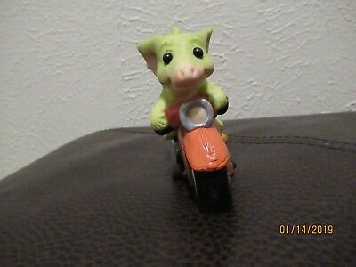 Pocket Dragons Scooter Motorcycle 1998 Real Musgrave Figurine Figure Dragon