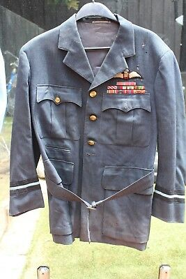 1950's Air Commodore RAF 4 Pocket Tunic,  A/C W.T Brooks OBE, DSO, AFC, M.I.D