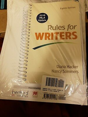 Rules for Writers with 2016 MLA Update, Diana Hacker, ISBN: 9781319083496