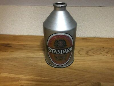 Standard Light Ale (199-6) empty crowntainer beer can by Standard, Rochester, NY