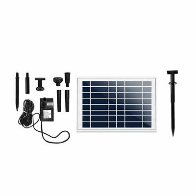 Pond Fountain Water Pump Outdoor Durable Solar Panel Powered Energy Efficient