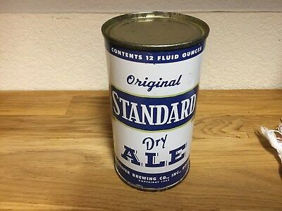 Standard Dry Ale ((135-29) empty flat top beer can by Stand. Rochester; NY