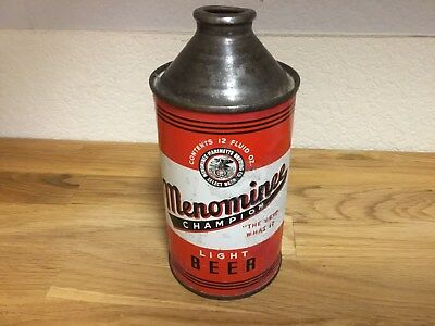 Menominee Beer (173-18) empty cone top beer can by Menominee-Marinette
