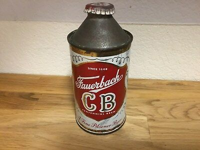 Fauerbach CB (162-4) empty cone top beer can by Fauerbach, Madison, WI