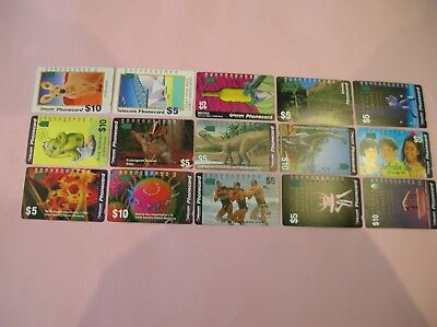 Australian Telecom Phonecards-Bulk Lot x 15