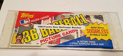 1984 Topps Baseball Grocery Pack 36 Cards RC Don Mattingly Rookie on Top MINT