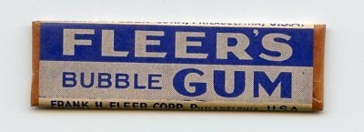 1930's Fleer's Bubble Chewing Gum Unopened Stick Sealed Wrapper BLUE Variant