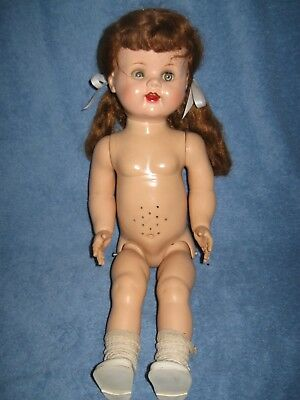 Vintage Ideal Saucy Walker Doll 22In Tlc Hard Plastic Lqqk!!!