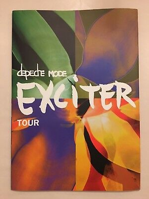 2001 Depeche Mode Large Concert Program Exciter Tour Book RARE OOP