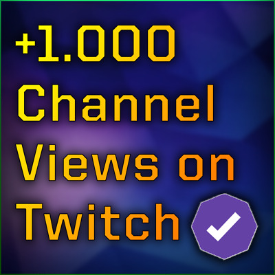 1.000 Twitch Channel Views - DM your Twitch Name after purchase