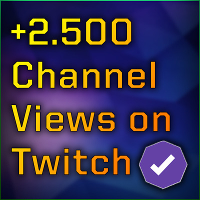 2.500 Twitch Channel Views - DM your Twitch Name after purchase
